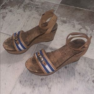 Tommy Hilfiger open toe wedges